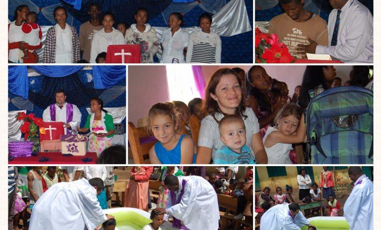 Roade vizibile din lucrarile de Evanghelizare: 8 persoane au facut legamant cu Hristos prin apa botezului